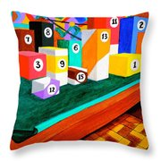 Billiard Table Throw Pillow