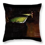 Billiards Ballet Throw Pillow