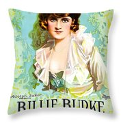 Billie Burke In The Misleading Widow 1919 Throw Pillow