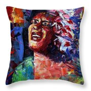 Billie Holiday Live Throw Pillow