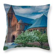 Billings Library At Uvm Throw Pillow