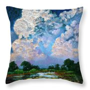 Billowing Clouds Throw Pillow