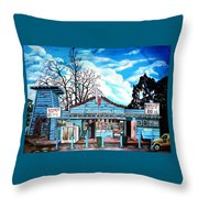 Bill's Drive-in Throw Pillow