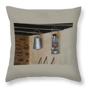 Billy Can And Oil Lamp Throw Pillow