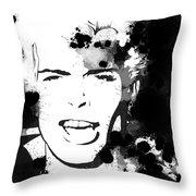 Billy Idol Splatter Throw Pillow