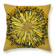 Billy Jean -- Floral Disk Throw Pillow
