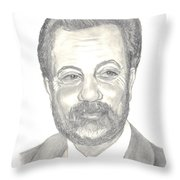 Billy Joel Portrait Throw Pillow