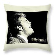 Billy Joel Poster Throw Pillow