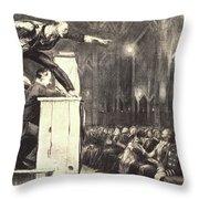 Billy Sunday Throw Pillow