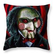 Billy The Puppet Throw Pillow