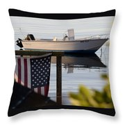 Billy's Boat Throw Pillow
