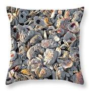 Billys Oyster Shells Throw Pillow