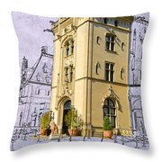 Welcome To Biltmore Throw Pillow