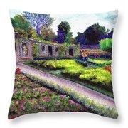 Biltmore Walled Gardens Throw Pillow