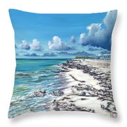 Bimini Breeze Throw Pillow by Danielle  Perry