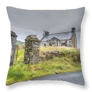 Bina's Cottage Outside Leenane Throw Pillow