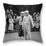 Bing Crosby And Ben Hogan Throw Pillow