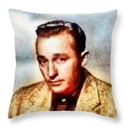 Bing Crosby, Hollywood Legend By John Springfield Throw Pillow