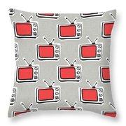 Binge Watching- Art By Linda Woods Throw Pillow