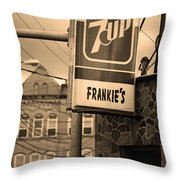 Binghampton New York - Frankie's Tavern Throw Pillow