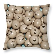 Bingo Balls Throw Pillow