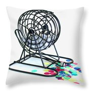 Bingo Cage Throw Pillow