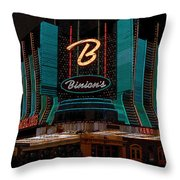 Binions Vegas Throw Pillow