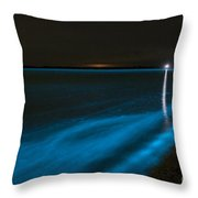 Bioluminescence In Waves Throw Pillow by Philip Hart
