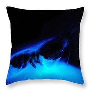 Bioluminescent Cloud Released By Shrimp Throw Pillow