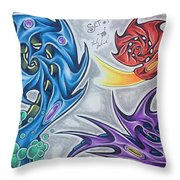 Biomech Flash Throw Pillow