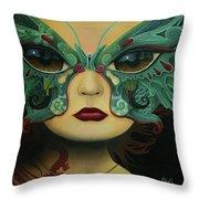 Biomorphic Bifocals Throw Pillow