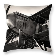 Biplane Throw Pillow by Carlos Caetano