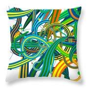 Bipolar Mania Rollercoaster Abstract Throw Pillow