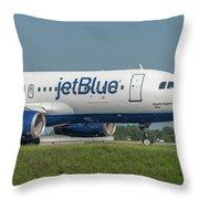 Bippity Boppity Blue Throw Pillow