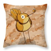 Birb 'n' Bee Throw Pillow