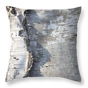 Birch Abstract 2 Throw Pillow