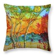 Birch And Liquid Amber Throw Pillow