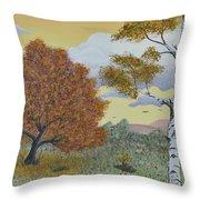 Birch And Oak Frienship Throw Pillow