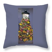 Birch And Orchid Twig Dress Exhibit Piece Throw Pillow