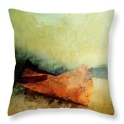 Birch Bark Canoe At Rest Throw Pillow