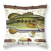 Birch Bass Throw Pillow by JQ Licensing