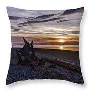 Birch Bay Evening Throw Pillow