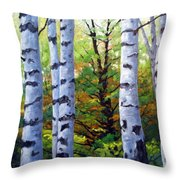 Birch Buddies Throw Pillow