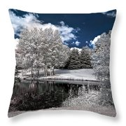 Birch Cluster II Throw Pillow