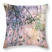Birch In Spring Throw Pillow