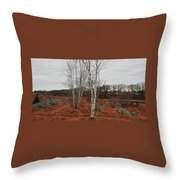 Birch On A Rocky Hill  Throw Pillow