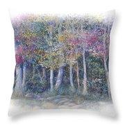 Birch Tree Gathering Throw Pillow