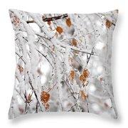 Frost Birch  Throw Pillow