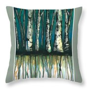 Birch Trees #1 Throw Pillow