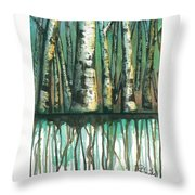 Birch Trees #5 Throw Pillow